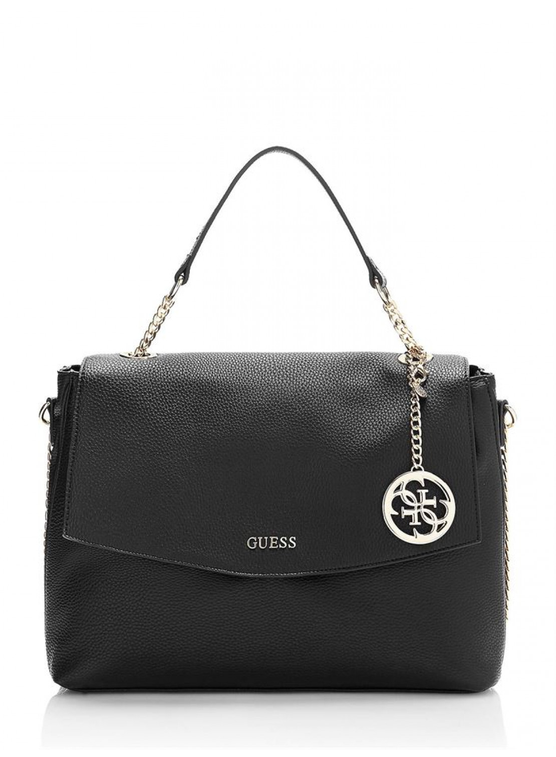 BOLSO GUESS ISABEAU TOP HANDLE FLAP BLACK