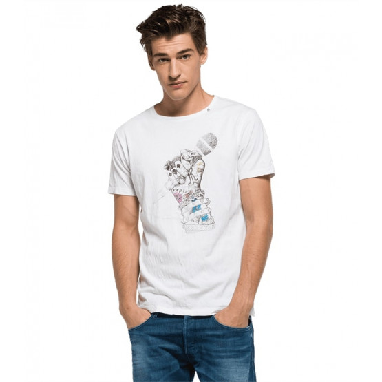 REPLAY T-SHIRT WHITE MAN