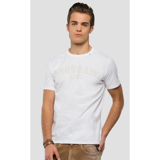 REPLAY WHITE T-SHIRT MAN