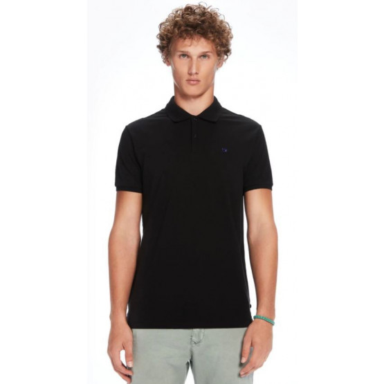 PIQUE SCHOTCH & SODA CLASSIC CLEAN BLACK MAN POLO
