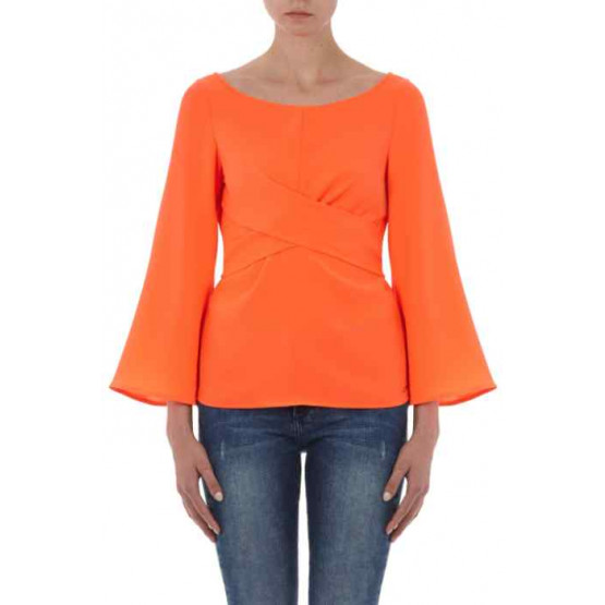 ARMANI EXCHANGE ORANGE CRUSH WOMAN BLOUSES