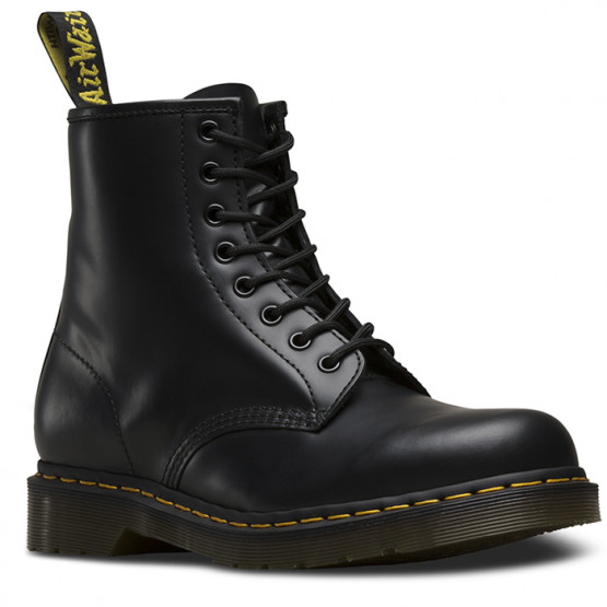 DR. MARTENS 1460 8-EYE SMOOTH BLACK BOOTS