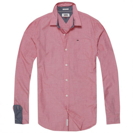 TOMMY HILFIGER SOLID RACING RED SHIRT