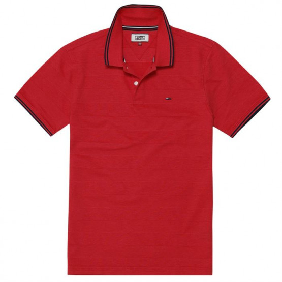 TOMMY HILFIGER ESSENTIAL DETAI RACING RED POLO