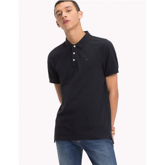 TOMMY HILFIGER PIQUE TOMMY BLACK POLO MAN
