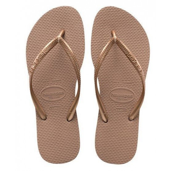 HAVAIANAS SLIM ROSE GOLD WOMAN FLIP FLOPS