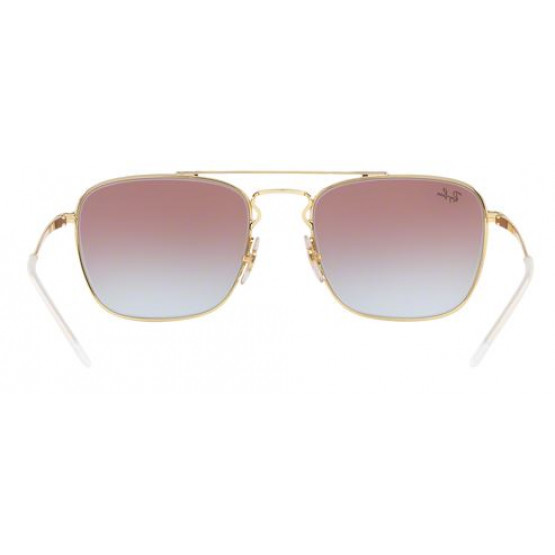 RAYBAN RB3588 GOLD TOP ON BORDEAUX S.55
