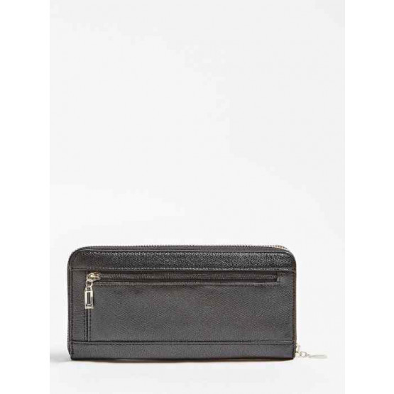 Guess Open Road SLG Large Zip Around Black Wallet
