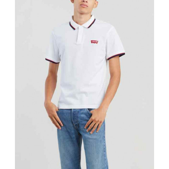 LEVIS MODERN HM PATCH WHITE POLO