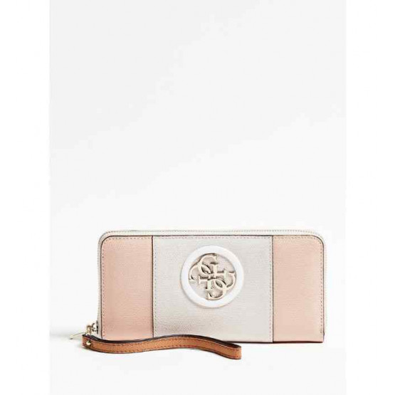Guess Open Road SLG Large Zip Around Stone Multi Wallet