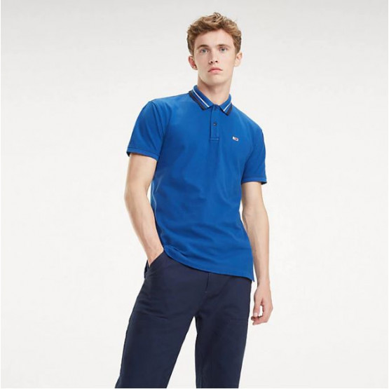 Tommy Hilfiger Classics Stretc Limoges/White Man Polo