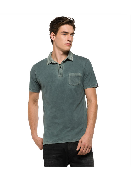 REPLAY POLO PET GREY MAN