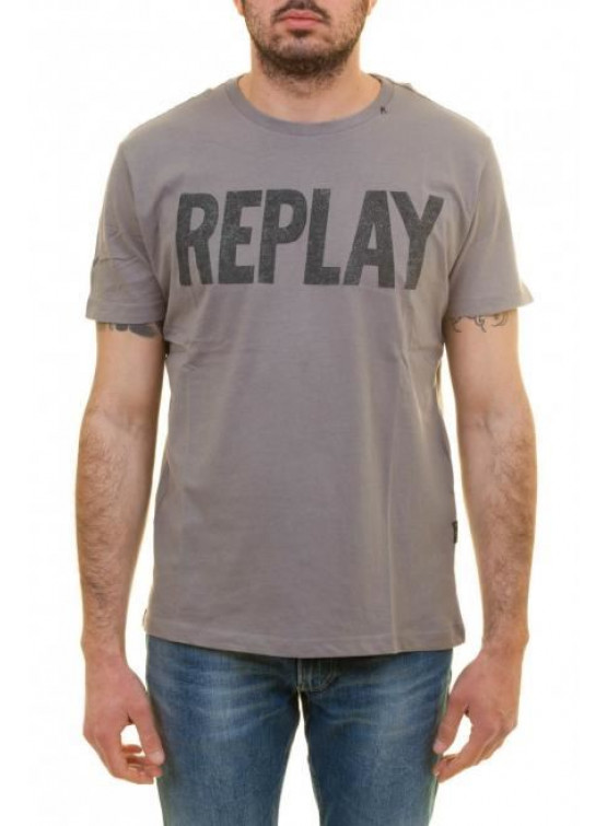 REPLAY GREY T-SHIRT MAN