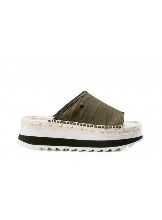 REPLAY LUCIE MIL GRN WOMAN SHOES