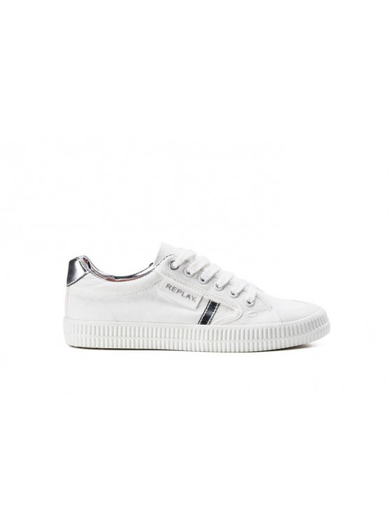 REPLAY DAYTON WHITE/SILVER WOMAN SHOES