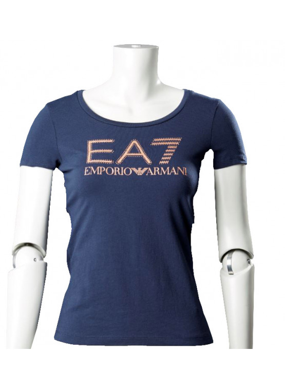 EAT NAVY BLUE T-SHIRT WOMAN
