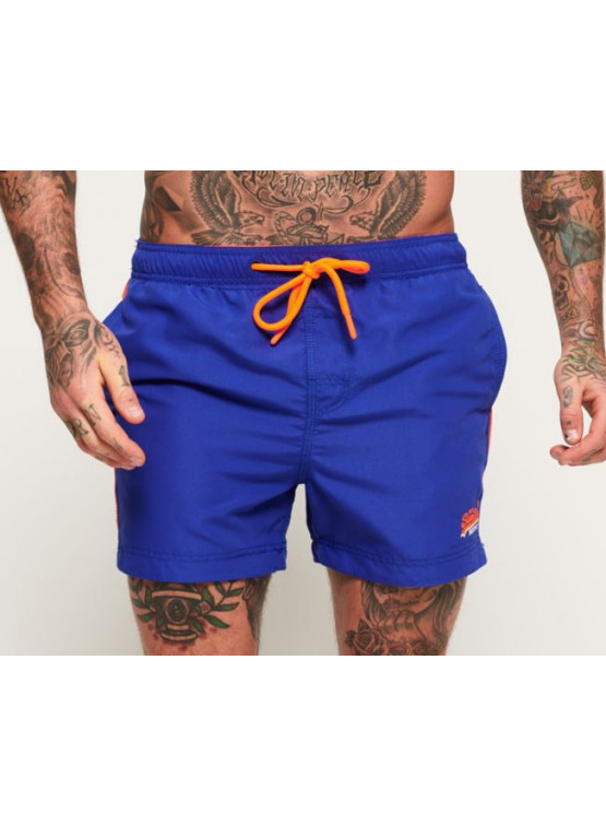 SUPERDRY BEACH WOLLEY VOLTAGE BLUE MAN SWUIMSUIT