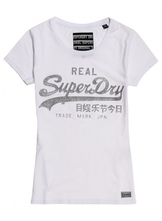 SUPERDRY LOGO EMBOSS OPTIC WOMAN T-SHIRT