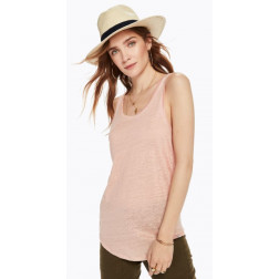 MAISON BASIC LIENN SCOOP BLUSH WOMAN T-SHIRT