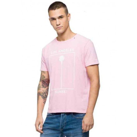 Replay G. Dyed Open End Ha Rose Man T-Shirt