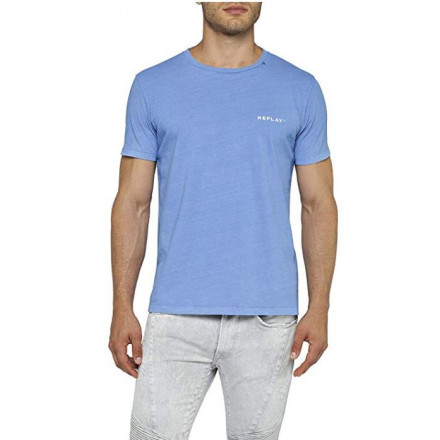 Replay G. Dyed Open End Ha Blue Viole Man T-Shirt