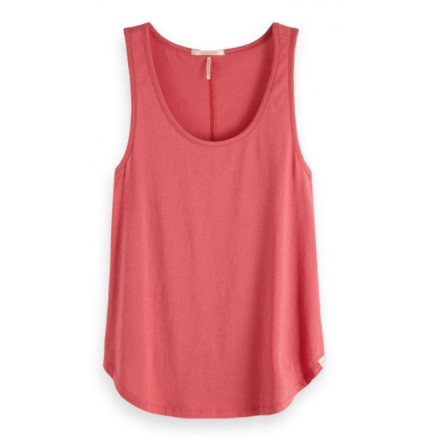 Maison Basic Tank Print Ans Sol Woman Top