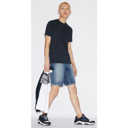 Armani Exchange Indigo Denim Man Shorts