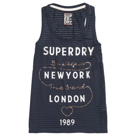 SUPERDRY TRUE BRAND ECLIPSE NAVY WOMAN T-SHIRT