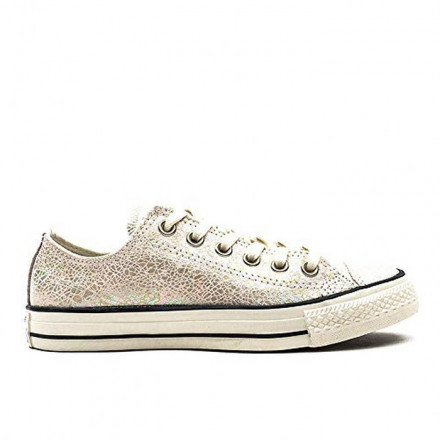 CONVERSE SHOES CHUCK TAYLOR ALL STAR WHITE/SILVER WOMEN
