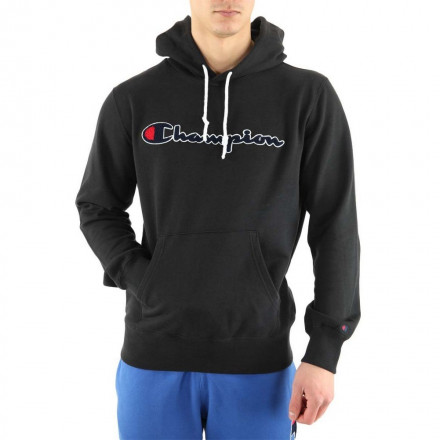 Champion Hooded Black Sweatshirt Man