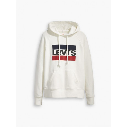 LEVIS WHITE HOODIE WOMAN