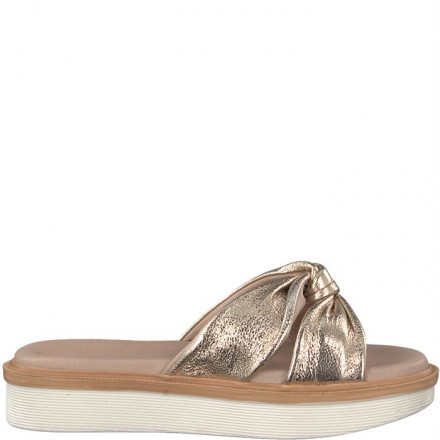 TAMARIS TUBULAR GOLD SANDAL