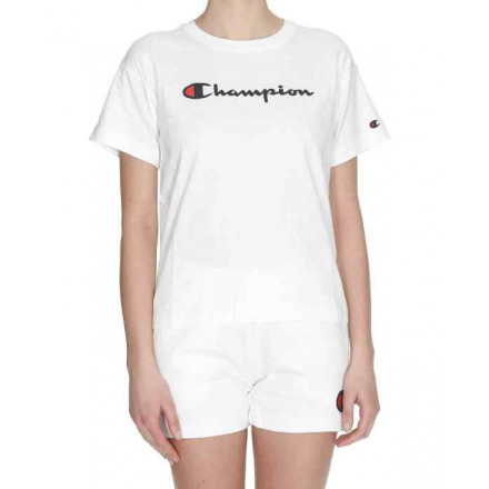 Champion Crewneck White T-Shirt Woman