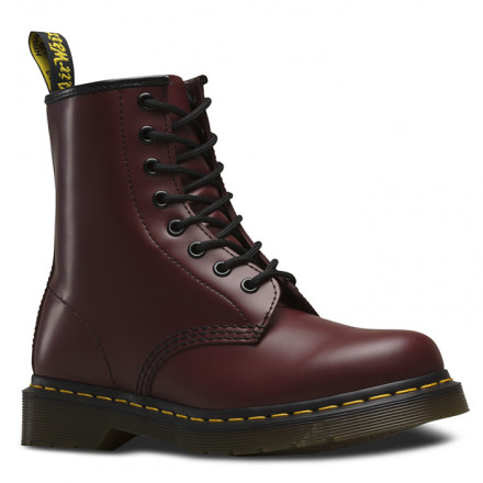 DR. MARTENS 1460 8-EYE SMOOTH CHERRY RED BOOTS