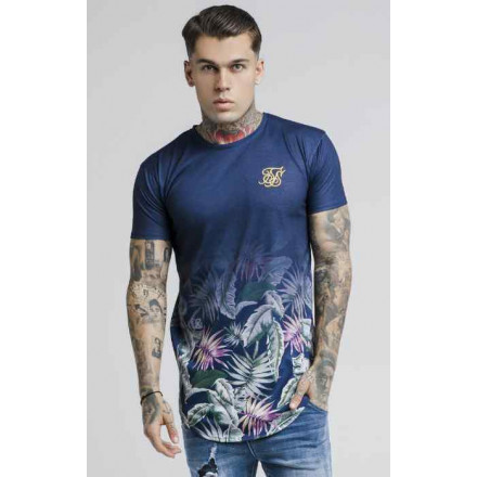 Siksilk Jeremy Vine Curved Navy Man T-Shirt