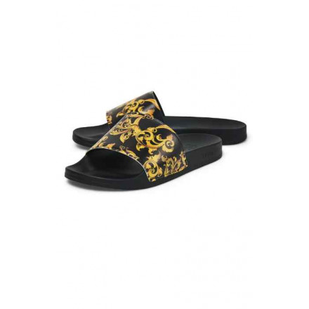 Siksilk Venetian Black & Gold Man Flip flops