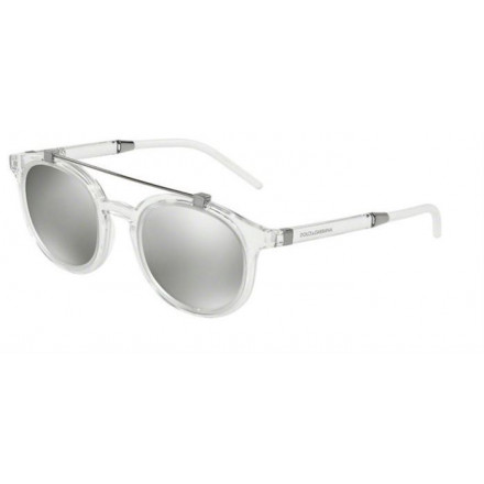 DOLCE & GABBANA DG6116 CRYSTAL/LIGHT GREY MIRROR SILVER S.49