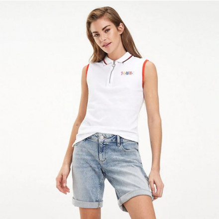 Tommy Hilfiger Sleeveless Classic White Woman Polo