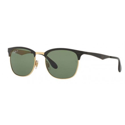 RAYBAN RB3538 TOP SHINY BLACK ON GOLD S.53