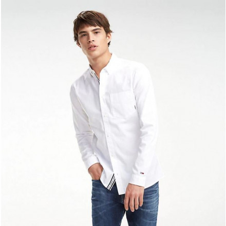 Tommy Hilfiger Solid Twill Classic White Man Shirt