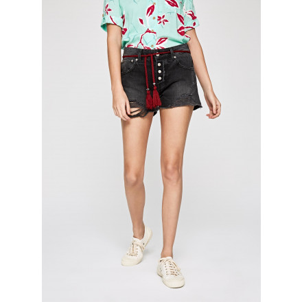 Pepe Jeans Bonita Black Woman Shorts