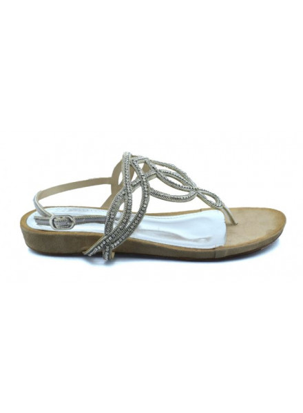 Francesco Milano silver woman sandals