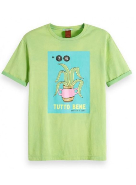 Scotch & Sosa Washed Rocke Surf Green Man T-Shirt