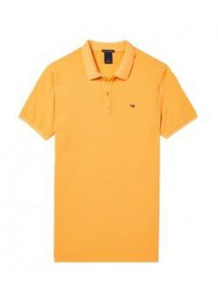 PIQUE SCHOTCH & SODA GARMENT-D FADED PEACH MAN POLO