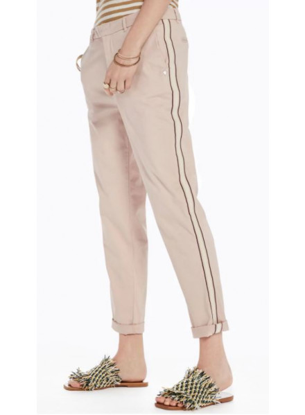 MAISON CHINO REGULAR LIGHT BLUSH WOMAN PANTS