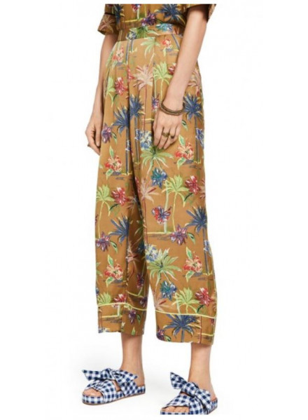 Maison Scotch Printed Wide Leg Combo F Woman Pant