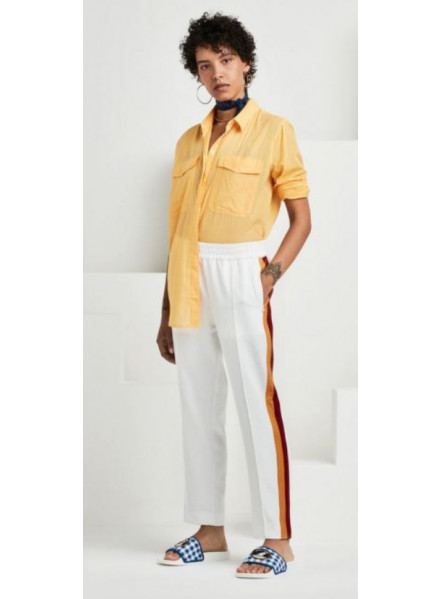 Maison Tapered Leg Off White Woman Pant