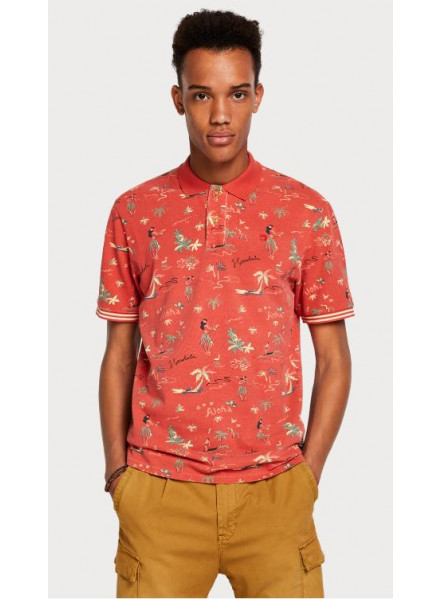 Scotch & Soda Havaiian All-Over Combo A Man Polo