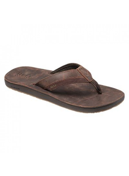 REEF LEATHER CONTOURED FLIP FLOPS MAN