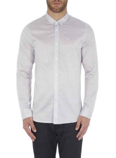 ARMANI EXCHANGE WHITE ROMBODOTS MAN SHIRT